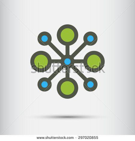 Abstract Technology vector logo design template.