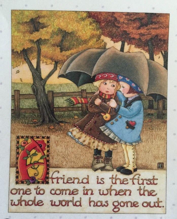 A Friend Is The First One-Handmade Fridge Magnet