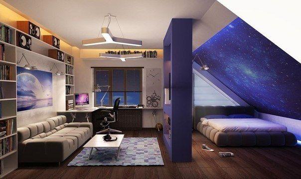 Космическая комната для подростка
