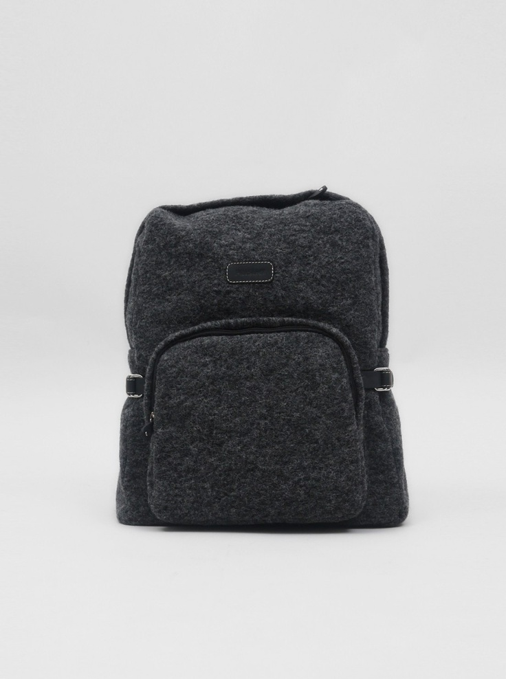 CALABRESE, WOOL BACKPACK: wool with leather straps. calabrese exclusive for present-london.com.