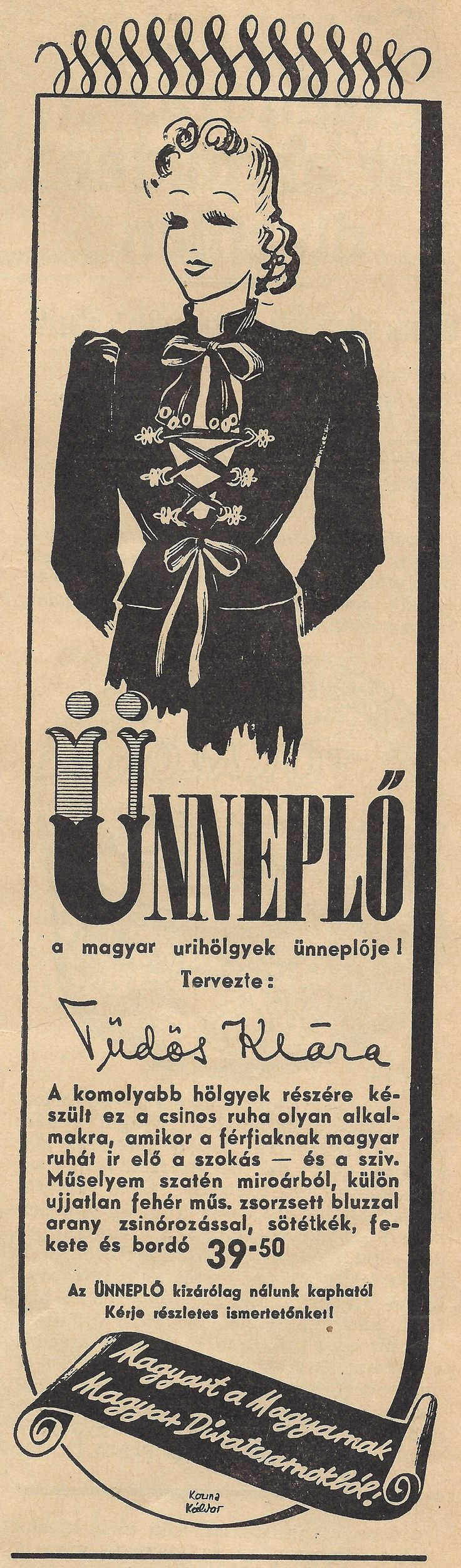 Divatcsarnok 1939