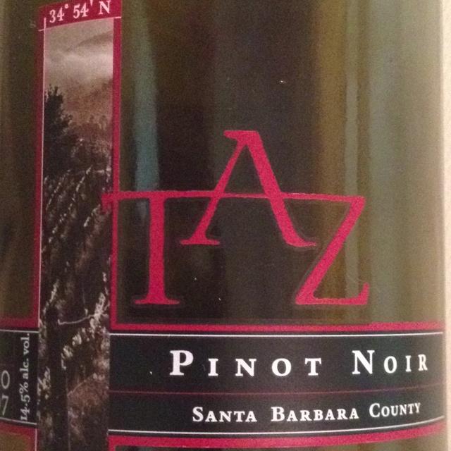 Taz Pino Noir 2007 from Santa Barbara County   food & drink ...