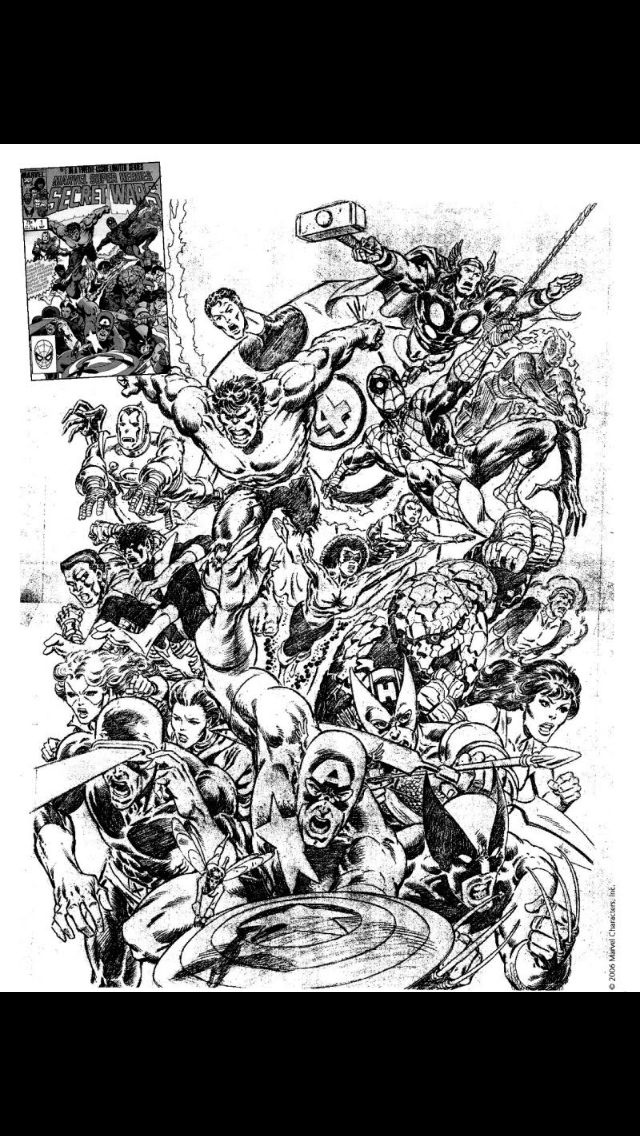 An unused Mike Zeck Secret Wars cover #1 with Thor, Mr. Fantastic and Cannonball!!!