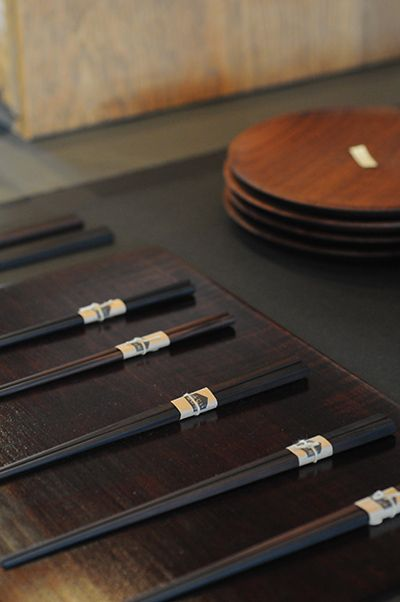 Lacquer chopsticks by Fujii Workshop, Japan