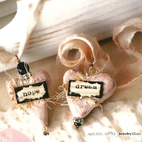 Hope and Dream Clay Necklaces - Becky Shander  Featured in Jewelry Affaire Spring 2010