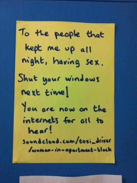 Strange and Funny Neighbor Notes