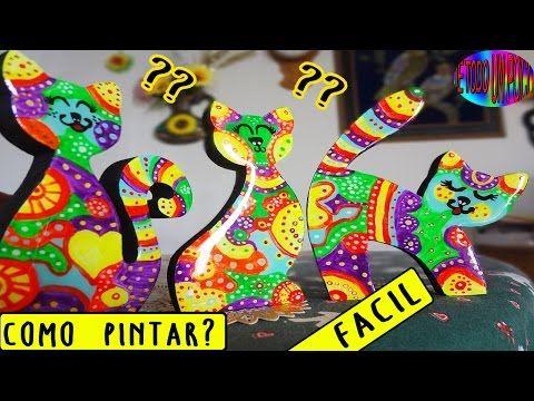 Portamoñas Gato Arte Britto Paso a Paso - YouTube