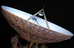 satellite dish at Goonhilly Earth Station. www.cornwallcloudservices.co.uk; www.goonhilly.org