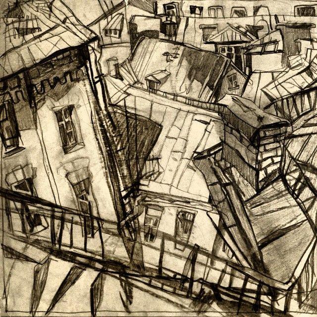 "Sketches ""walk around the city"" #kyiv #ukraina #sketch #graphics #getmanstudio #roofs #paint #art #zorinagetman"