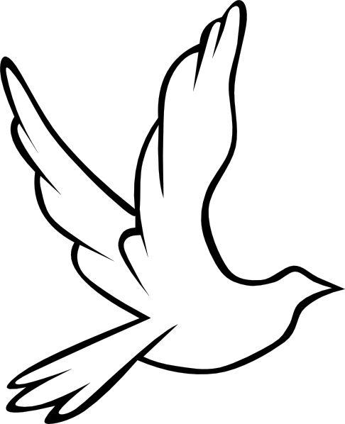 christian symbol black line art for kids   Flying Dove clip art - vector clip art online, royalty free & public ...