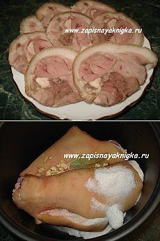 Рулет мясной: рецепт приготовления из свиной рульки (+ в мультиварке).