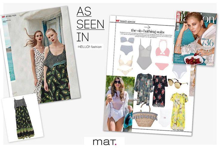 Το νέο @hellofashiongr βρήκε και προτείνει τα αγαπημένα του καλοκαιρινά #matfashion κομμάτια! Έντονα prints και χρώματα που φέτος θα φορεθούν πολύ!  Βρες το maxi φόρεμα με ριγέ, fluo χρώματα και εξωτικά prints > code: 671.7377 Βρες τη διάφανη κίτρινη τουνίκ με έντονα floral μοτίβα > code: 671.7408 Βρες το χακί κιμονό με floral μοτίβα > code: 671.4062 #hellofashiongr #special #edition #fashion #magazine #inspiration #ss17 #collection #style #hellomagazine #hellomagazinegreece
