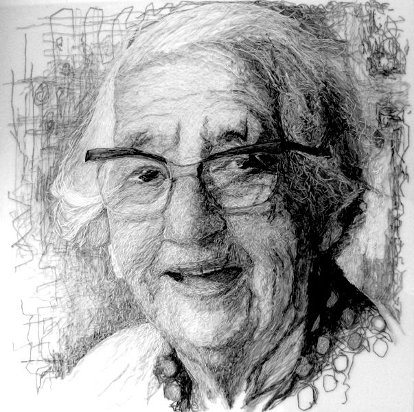 Grandma with Glasses by Jenny dutton