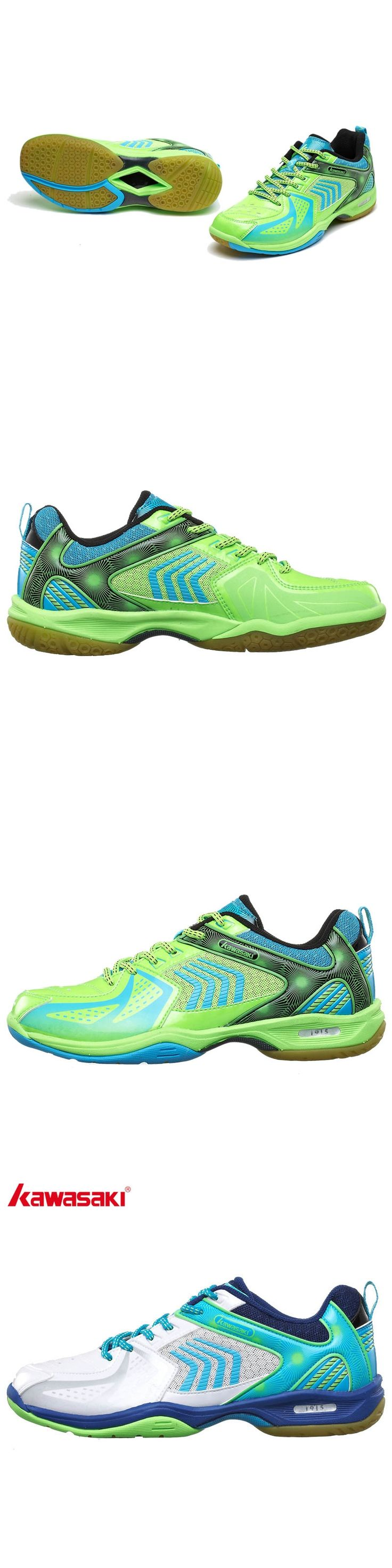 KAWASAKI Men's Badminton Court Shoes Breathable Anti-torsion Wear-resistance Rubber Indoor Sports Sneakers K-138 139