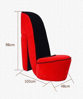 Creativa los tacones altos arte sofá perezoso. silla. ropa tienda de zapatos de la sala de estar. un solo sofá del arte del paño