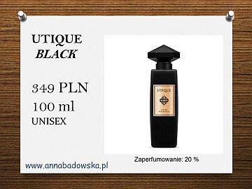 Perfumy UTIQUE  BLACK - ekskluzywna nowość