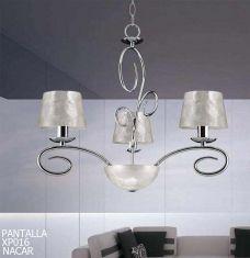Lámparas de Techo : Colección ALEJANDRA PLATA 3 luces