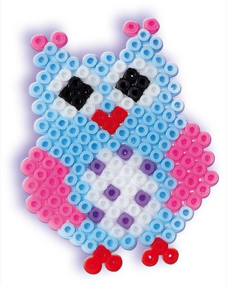SES Iron-on beads Owl #irononbeads #owl #strijkkralen