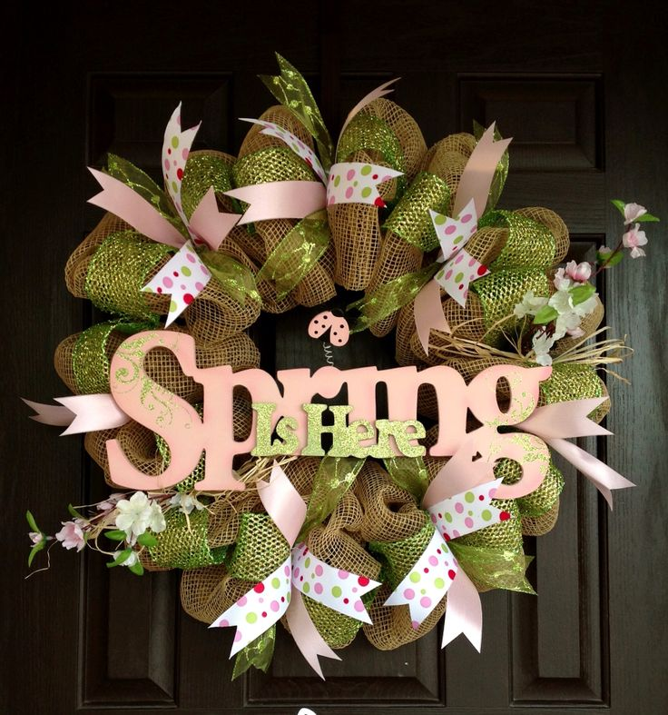 Spring Wreath By J.Wolfe/Brown Door Wreaths and more.