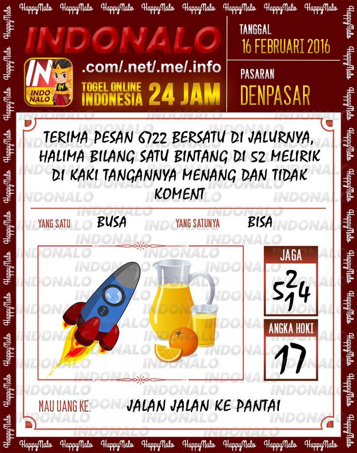 Prediksi Jitu Togel Online Indonalo Denpasar 16 Februari 2016