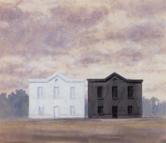 René Magritte - La parábola -1955 - aguada