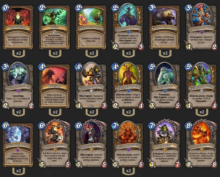 Deck Druide Combo de TGT - Hearthstone : Heroes of Warcraft - Druide - Drood - Malfurion