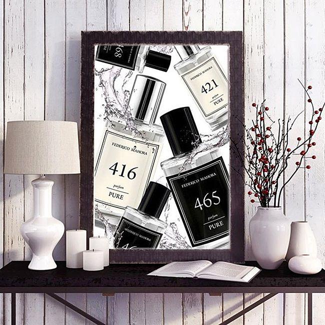 """PURE - Új parfümkollekció! Az FM PURE parfümök sokak számára még nem ismert illatok, de éppen ettől egyediek. Az üveg nem csak csomagolás. Az üveg egy """"névjegy"""", mely bemutatja a parfümöt. Az FM PURE sorozat elegáns 50ml.-es üvegei magukban rejtik a 20%-os aromaolaj tartalmú parfümöket. Ismerd meg a PURE parfümkollekció tagjait, válassz saját igényednek megfelelően és élvezd az illat nyújtotta luxust egész napon át!"""