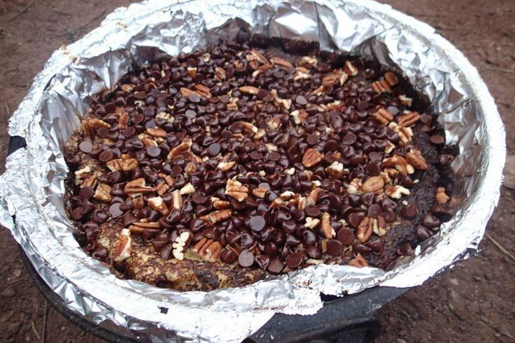 Mississippi mud cake Dutch oven recipe