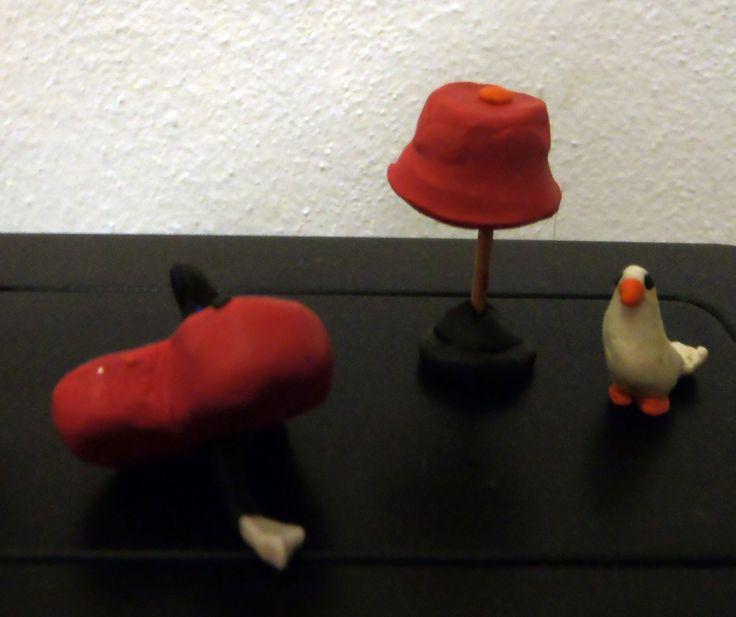 Playdough heart, dove, lamp