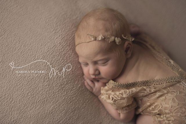 alberta newborn photography baby-girl-gemma-tushi-up-pose-beanbag-lace-romper