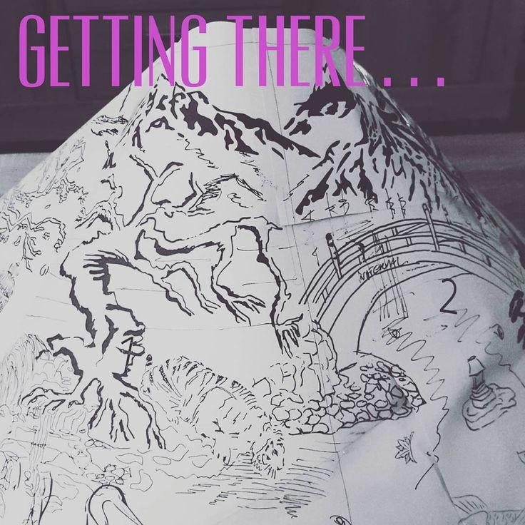 Getting there... #papercut #patternmaking #instaartist #paper #pattern #papercraft #cutout #dress #paperdress #instagood #determination #instaart #beautiful #mukieart