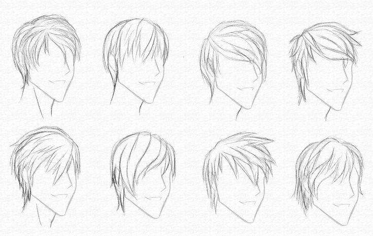Hair Style References: Guy Hair Styles 2-9-10 By ~CrimsonCypher On DeviantART