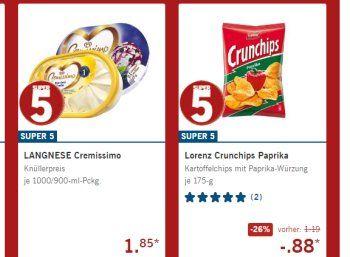 """Lidl: Lagnnese Cremissimo und Lorenz Crunchips zu Schnäppchenpreisen https://www.discountfan.de/artikel/essen_und_trinken/lidl-lagnnese-cremissimo-und-lorenz-crunchips-zu-schnaeppchenpreisen.php Es lohnt sich wieder ein Blick auf die Wochenangebote von Lidl: Die Literpackung Langnese Cremissimo gibt es für 1,85 Euro, die 175-Gramm-Packung """"Lorenz Crunchips Paprika"""" ist für 88 Cent zu haben – normal kostet diese 1,19 Euro. Lidl: Lagnnese Cremissimo und L"""