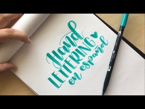 Cómo empezar con el lettering - YouTube