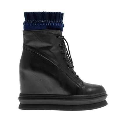 A/W 2014-15 #Booties #shoes #Fred #collection #outfit #fashion #style #black #leather