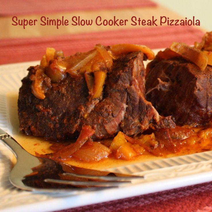 Simple Slow Cooker Steak Pizzaiola | cupcakesandkalechips.com | #slowcooker #crockpot #beef