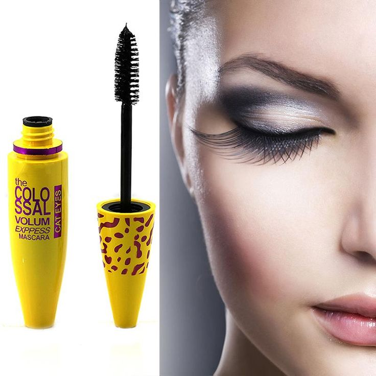 1pcs Professional Yellow Leopard Colossal Mascara Volume Express Makeup Long Curling Nactual Waterproof Eyelashes Drop Shipping