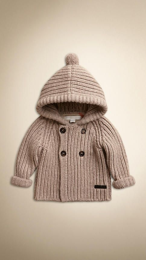 Hooded Cashmere Knitted Jacket   Burberry