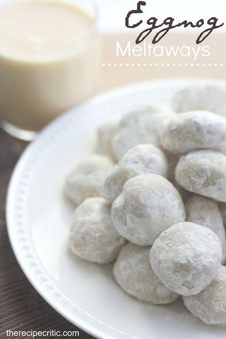 Yummy Eggnog Meltaways Recipe. See these 15 Holiday Eggnog Dessert Recipes on www.prettymyparty.com.