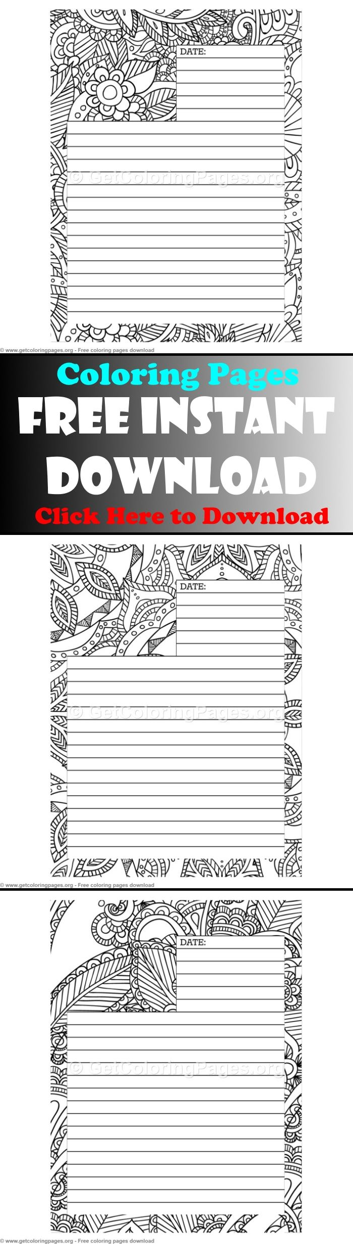Free Journal Pages Template Coloring Journal Pages Journal Pages Ideas Journal Pages Printable J Coloring Journal Journal Pages Printable Journal Pages