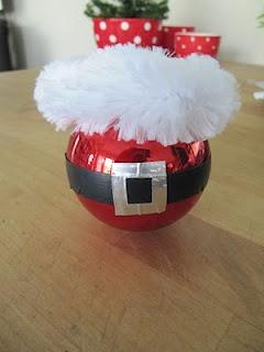Make your own Santa ornament