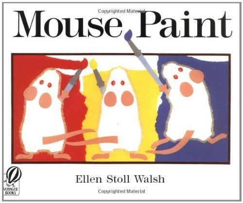 Childrens Books Colors White Mice Red Blue Yellow Paint