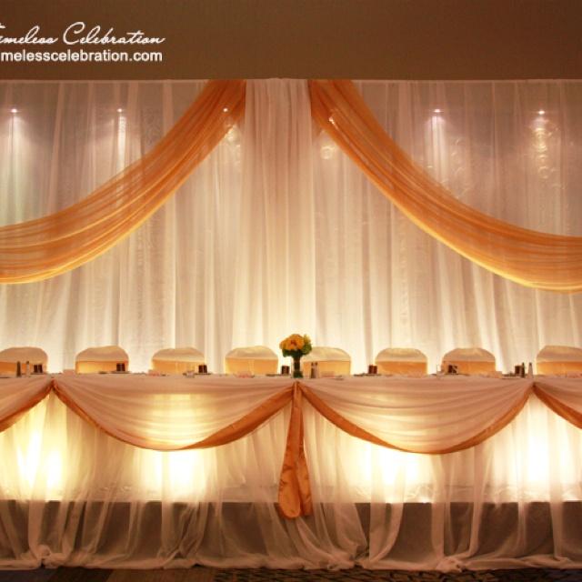 White U0026 Gold Lighted Head Table Decor With Backdrop Wedding Reception Decor  | A Timeless Celebration Events Styling U0026 Managu2026 | Pinteresu2026
