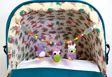How to make the crocheted owls for a stroller