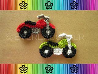 Crochet-Motorcycle Applique $4.95