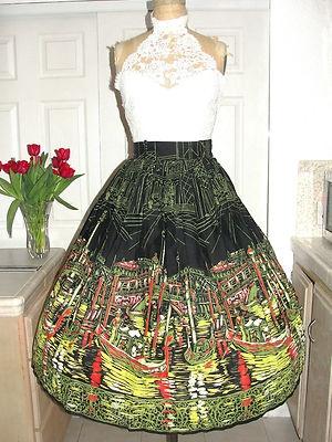 Novelty print skirt - Venice