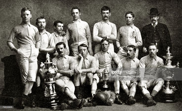 Sport, Football, Blackburn Rovers, English F,A,Cup winners 1884, beating Quuens Park, Glasgow 2-1 at Kennington Oval, Blackburn Rovers, Back row, L-R: J,Lofthouse, H,McIntyre, J,Beverley, H,Arthur, F,Suter, J,H,Forrest, R,Birtwistle, (Umpire), Front row, L-R: J,Douglas, J,Sowerbutts, J,Brown, G,Avery, J,Hargreaves