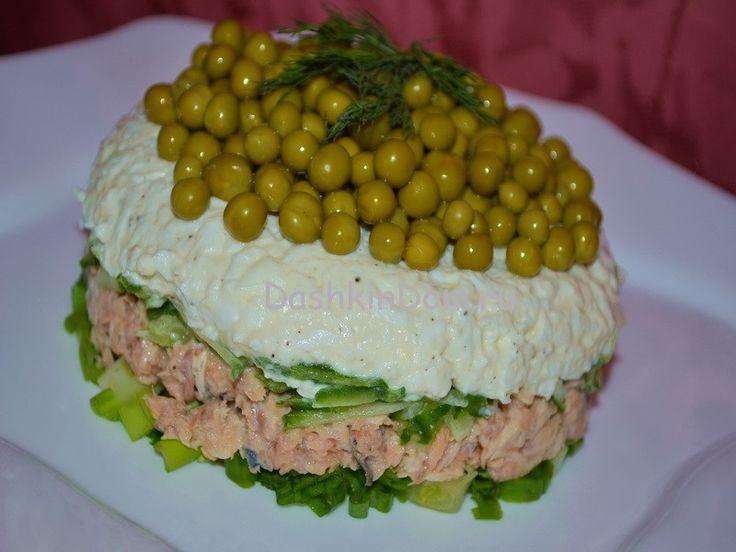 Салаты рецепты с рыбной консервой