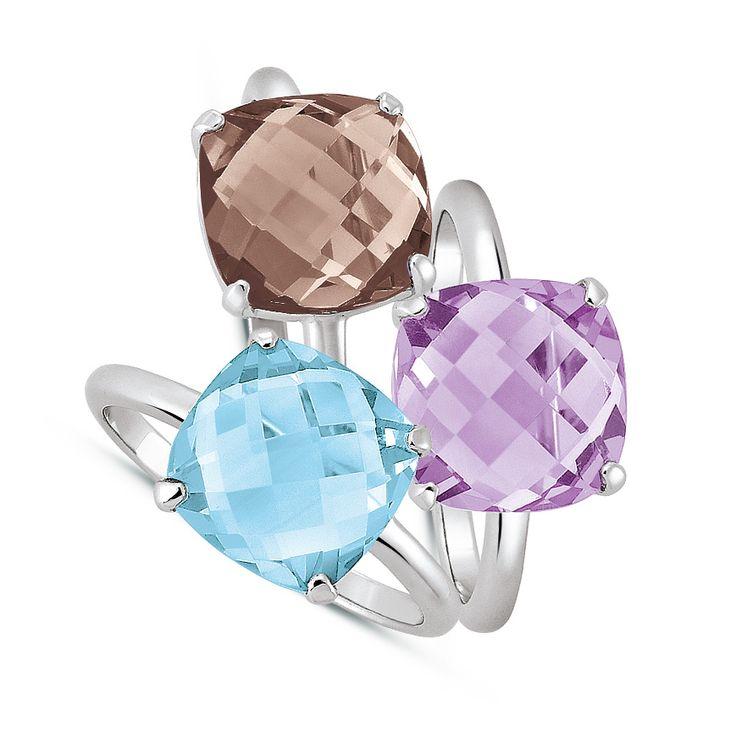 Ringe 925 Silber mit Topas, Rauchquarz oder Amethyst bei #Dorotheum Juwelier
