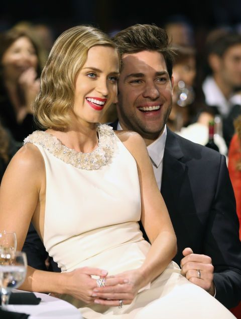 Emily Blunt and John Krasinski. See the 40 other cutest celebrity couple PDA moments.